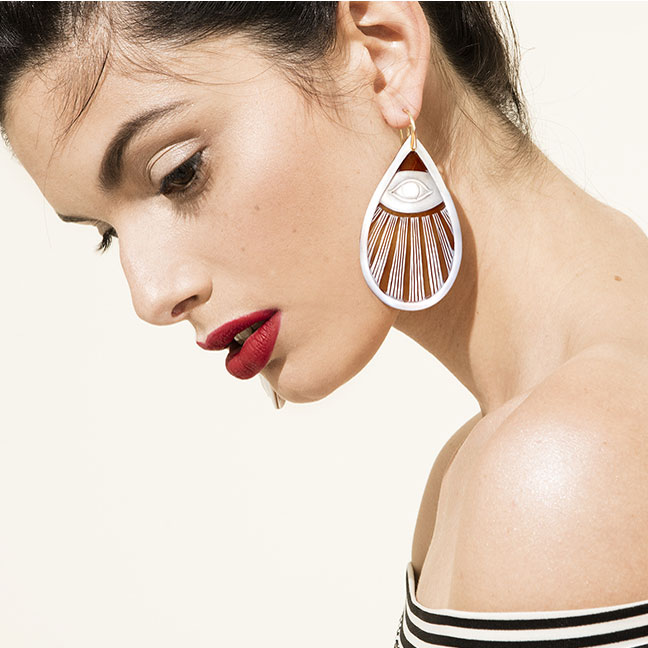Missbach by Nadia Splendido Splendente Earrings on model