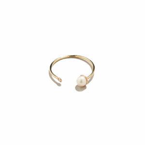 Eikosi Dyo Pearl Diam Ring