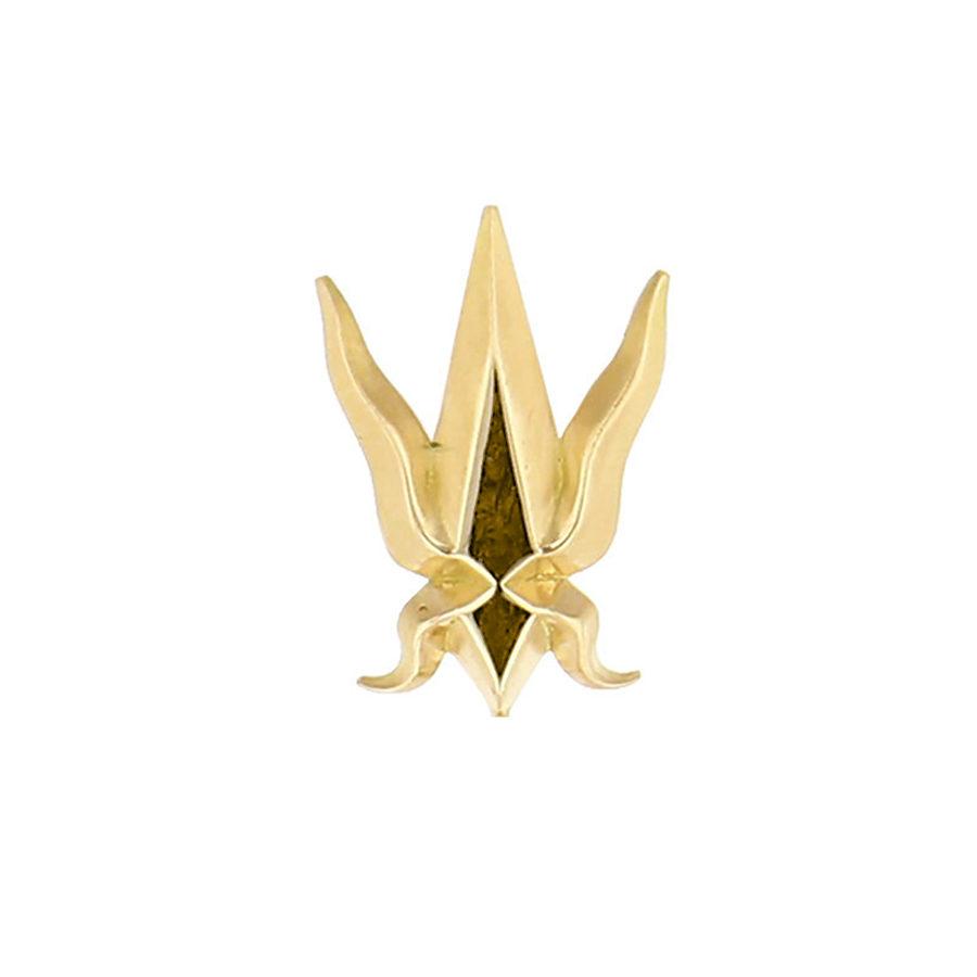 Elie Top Mono Feu Yellow Gold Short Earring
