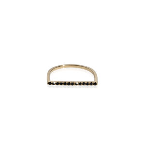 Christiana Kafa Half Circle Black Diamonds Ring