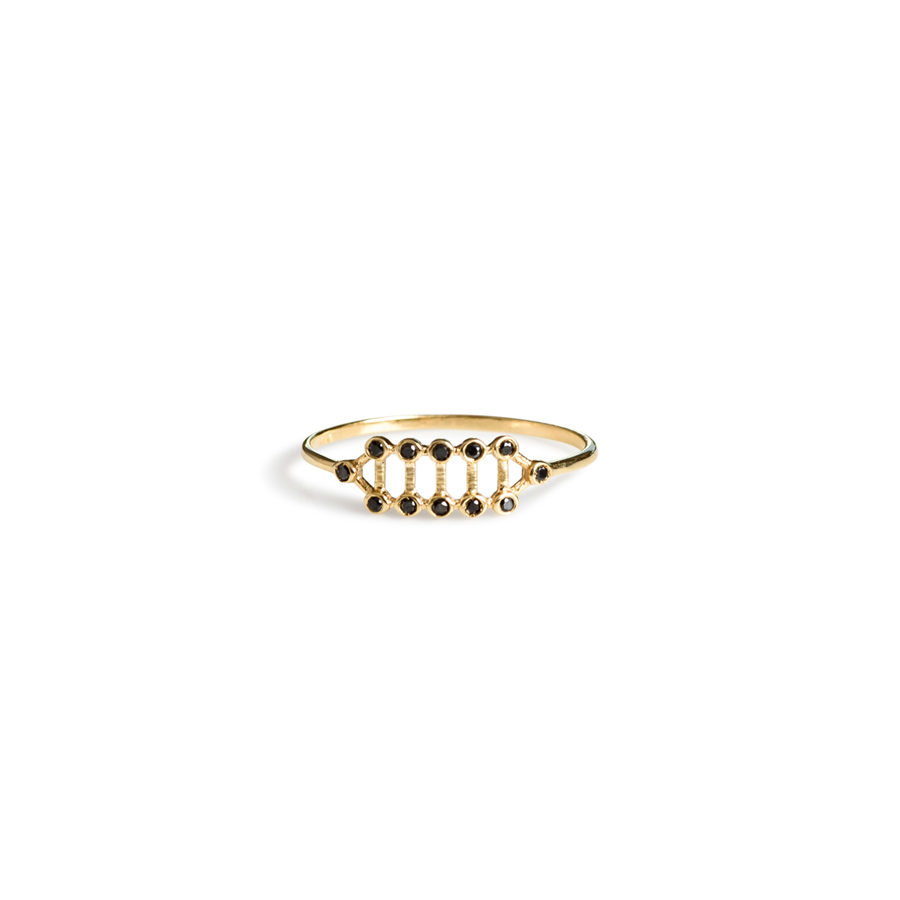 Christiana KafaChristiana Kafa Gold and Diamonds Half Fledged Ring