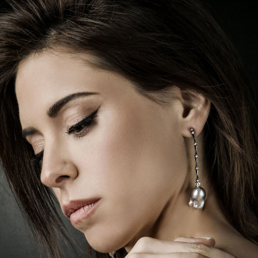 Anais Kostinou Sui Generis Dawn For Ceres Earrings on model