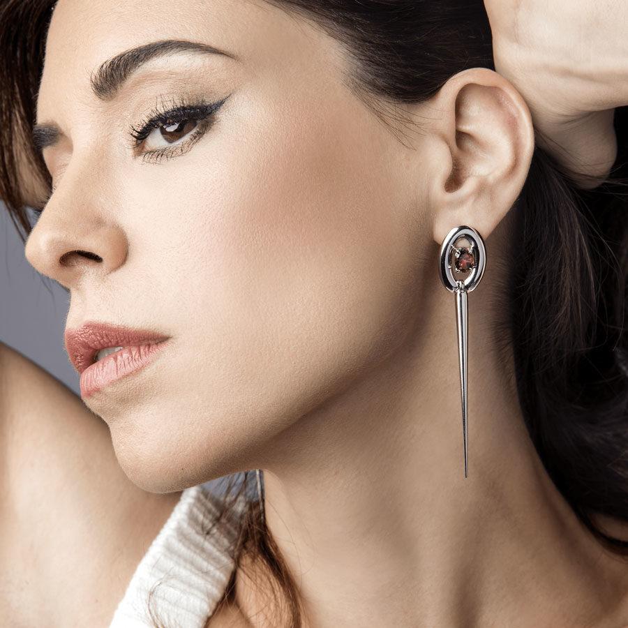 Anais Kostinou Sui Generis Shesword Earrings