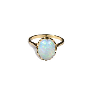 Zacharias Galanis Yellow Gold Opal Ring
