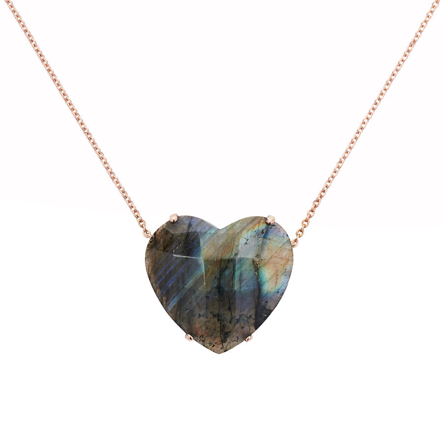 Christina Alexiou Labradorite Heart Necklace