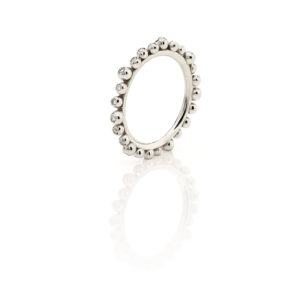 Huffy Cybele Six Diamonds Ring White Gold