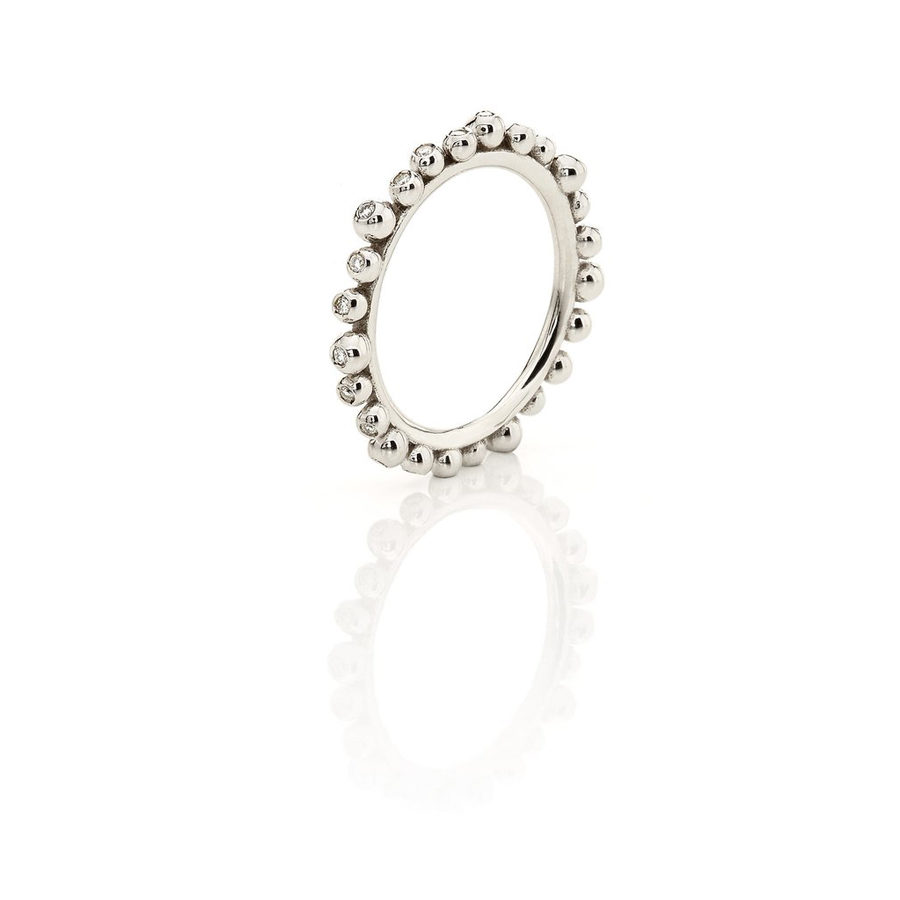 Huffy Cybele Six Diamonds Ring White Gold