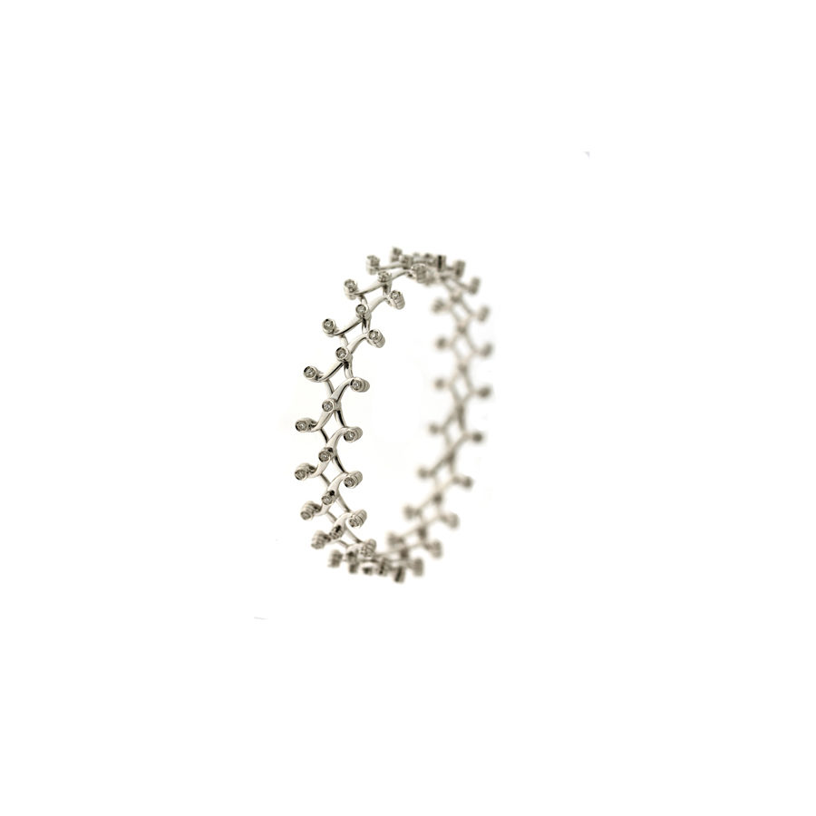 Gallery Diamond White Gold and Diamonds Ring-Bracelet