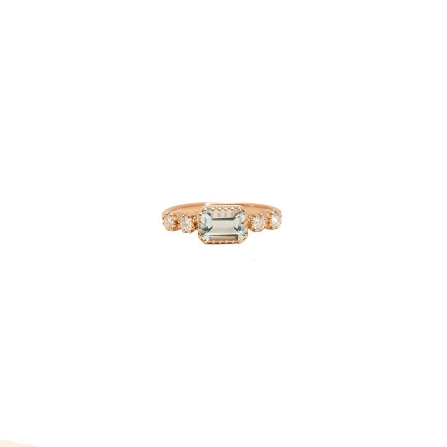 Maison Artaner Antoinette Blue Topaze Ring