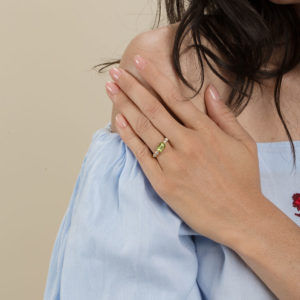 Maison Artaner Antoinette Peridot Ring on model