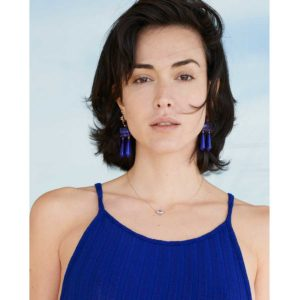 Christina Alexiou Lapis Earrings on model
