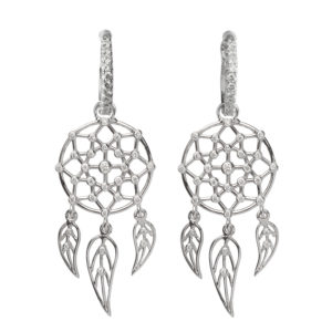 Dolly Boucoyannis White Gold Separate Dreamcatchers Earrings DBDCE03