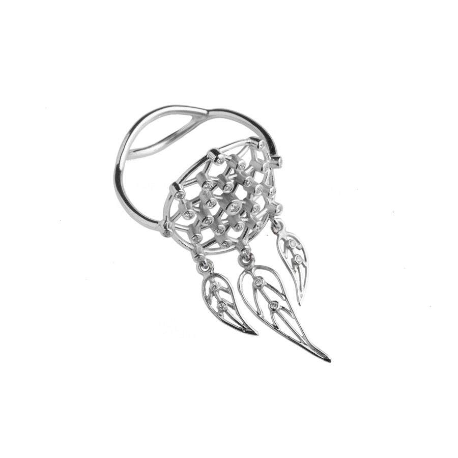 Dolly Boucoyannis Dreamcatchers White Gold Ring DBDCR03