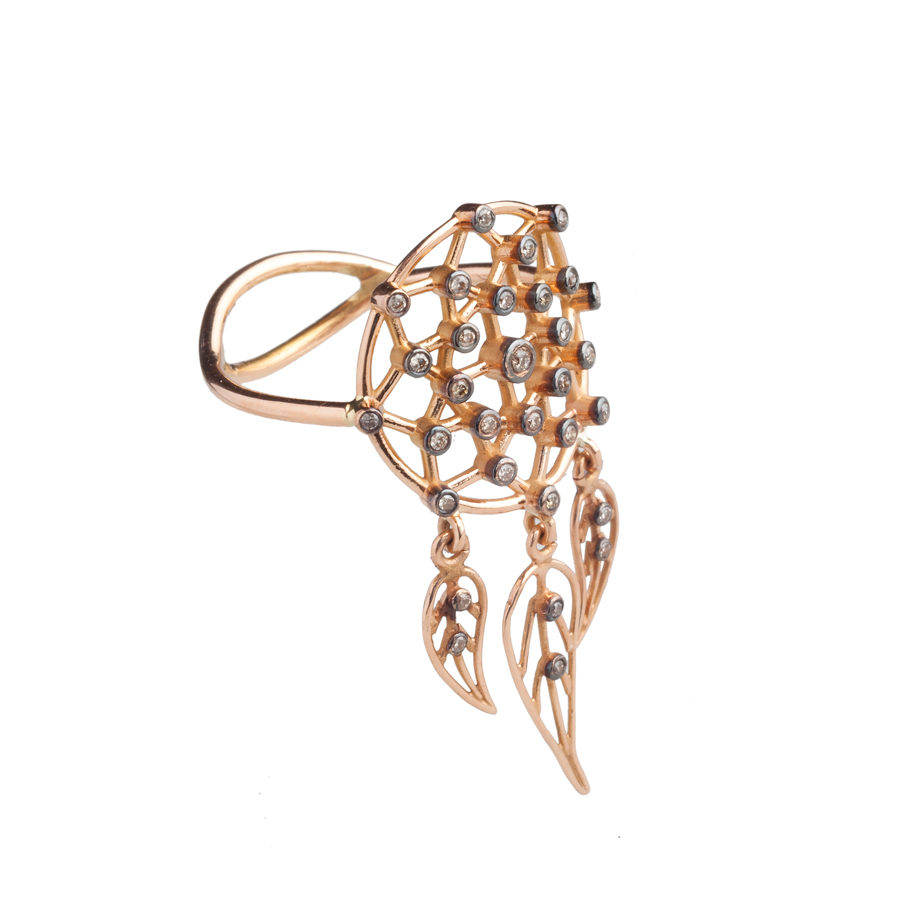 Dolly Boucoyannis Rose Gold Dreamcatchers Ring DBDCR05