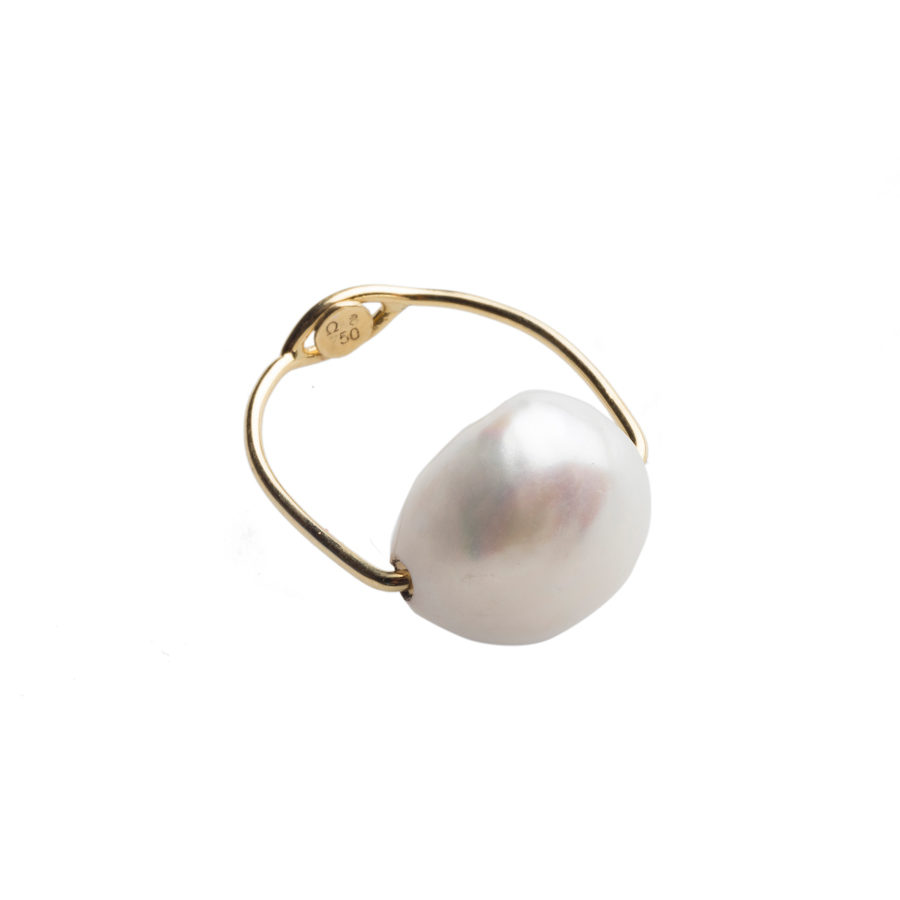 Dolly Boucoyannis Wire Pearl Ring DBR10b
