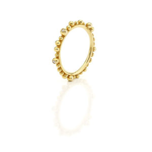 Huffy Cybele Six Diamonds Ring Yellow Gold