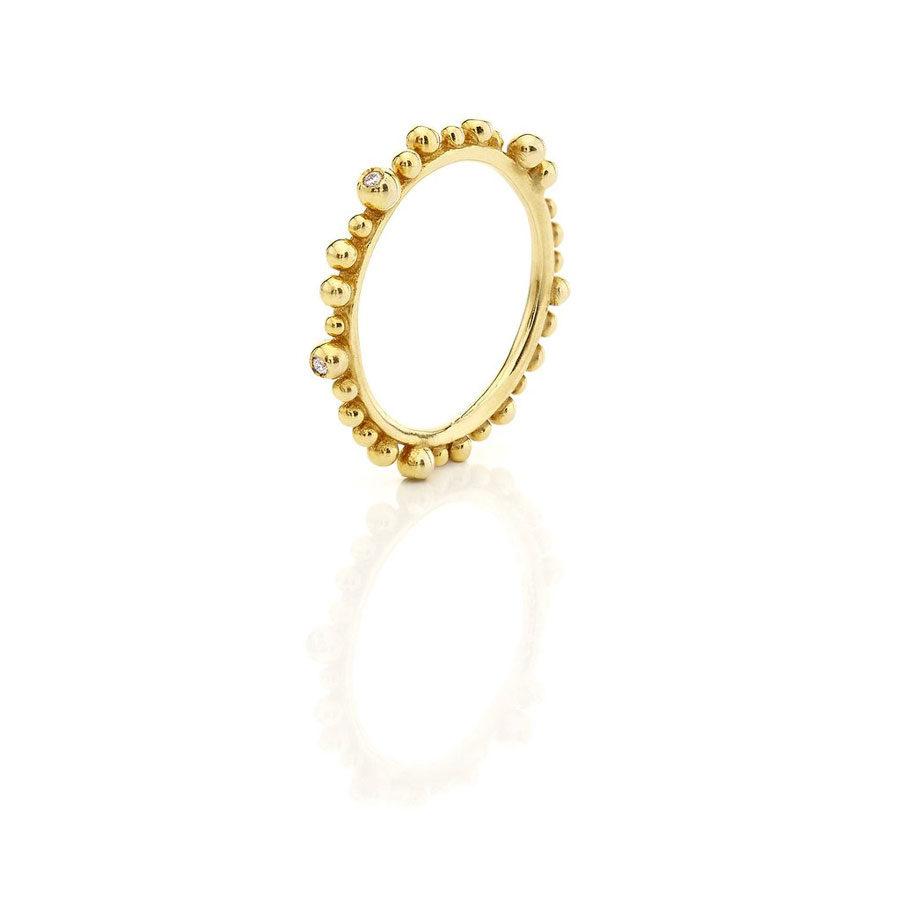 Huffy Cybele Six Diamonds Ring Yellow Gold