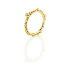 Huffy Cybele One Diamond Ring Yellow Gold