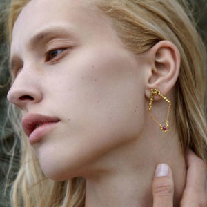 Huffy Astraea Earrings on model