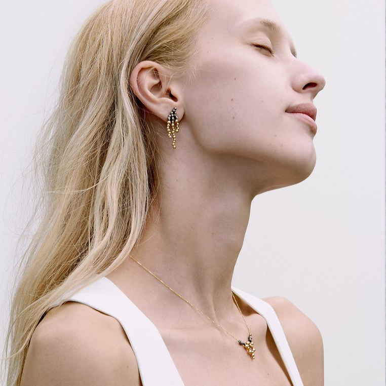 Huffy Adele Earrings on model