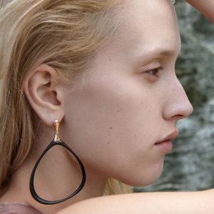 Huffy Petal Earrings on model