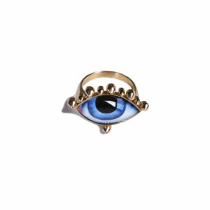 Lito Tu es Partout Blue Enamelled Eye Ring