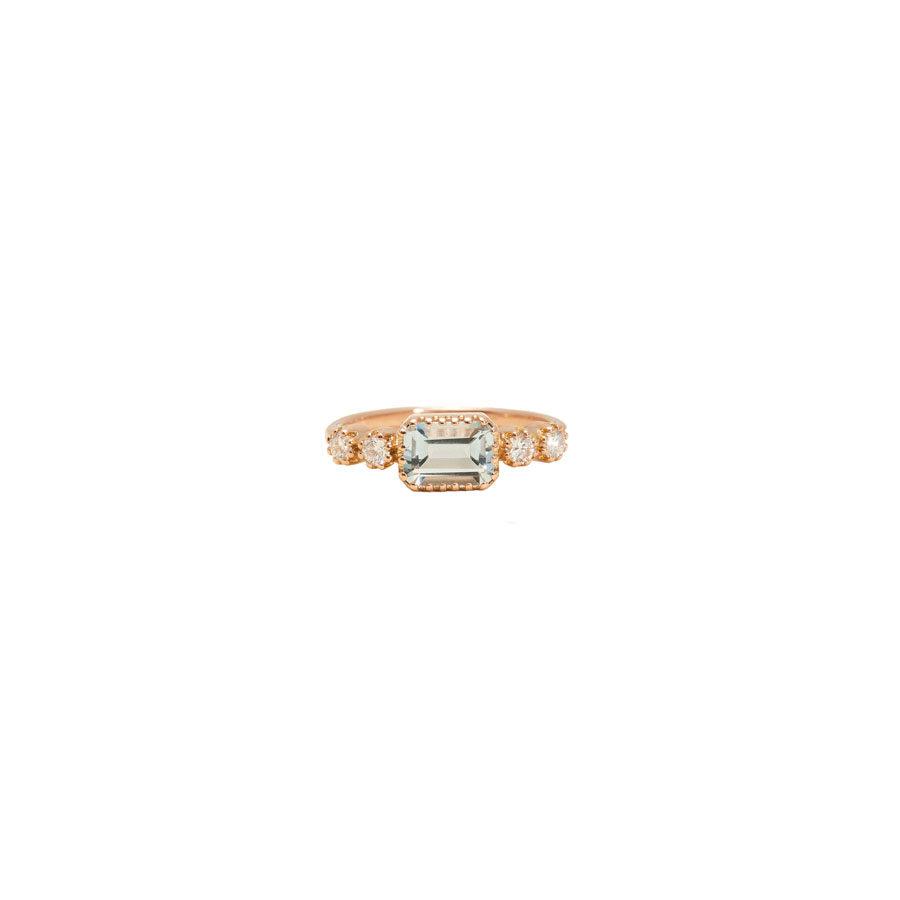 Maison Artaner Antoinette Blue Topaze Ring 1