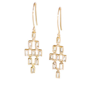 OONA Baguette Drop Earrings
