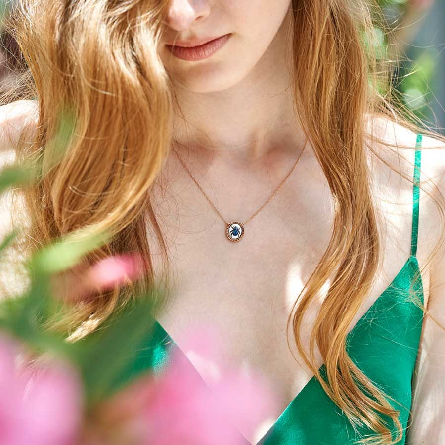 Penelope Begin Necklace on model