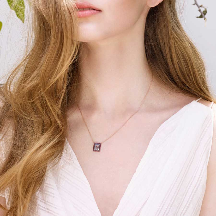 Penelope Envision Necklace on model