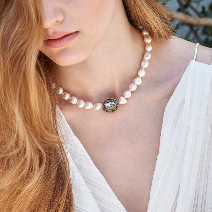 Penelope Envision Pearl Necklace PFJ.PPNWS071.YG