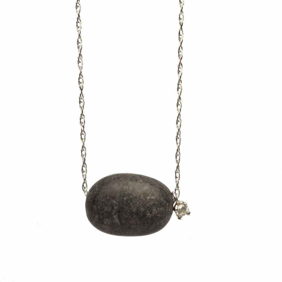 Dolly Boucoyannis Small pebble and diamond chain necklace DBC15