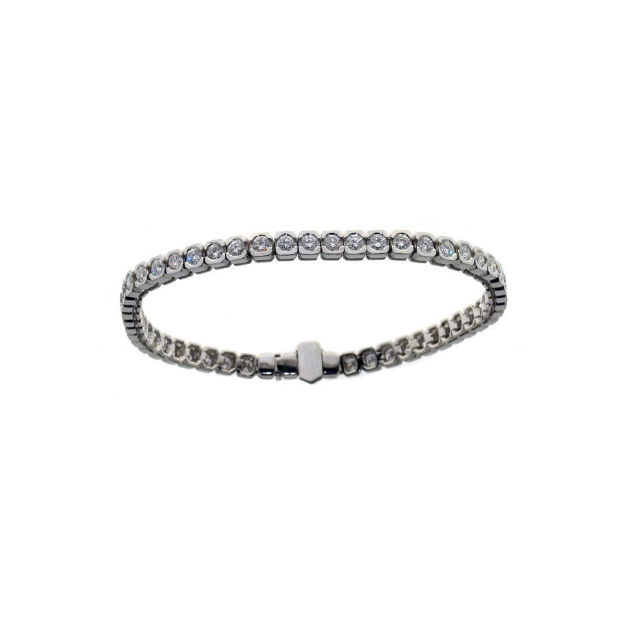 Gallery Diamond White Gold and Diamonds Bracelet