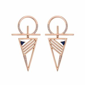 Blueprints Rose Gold Earrings