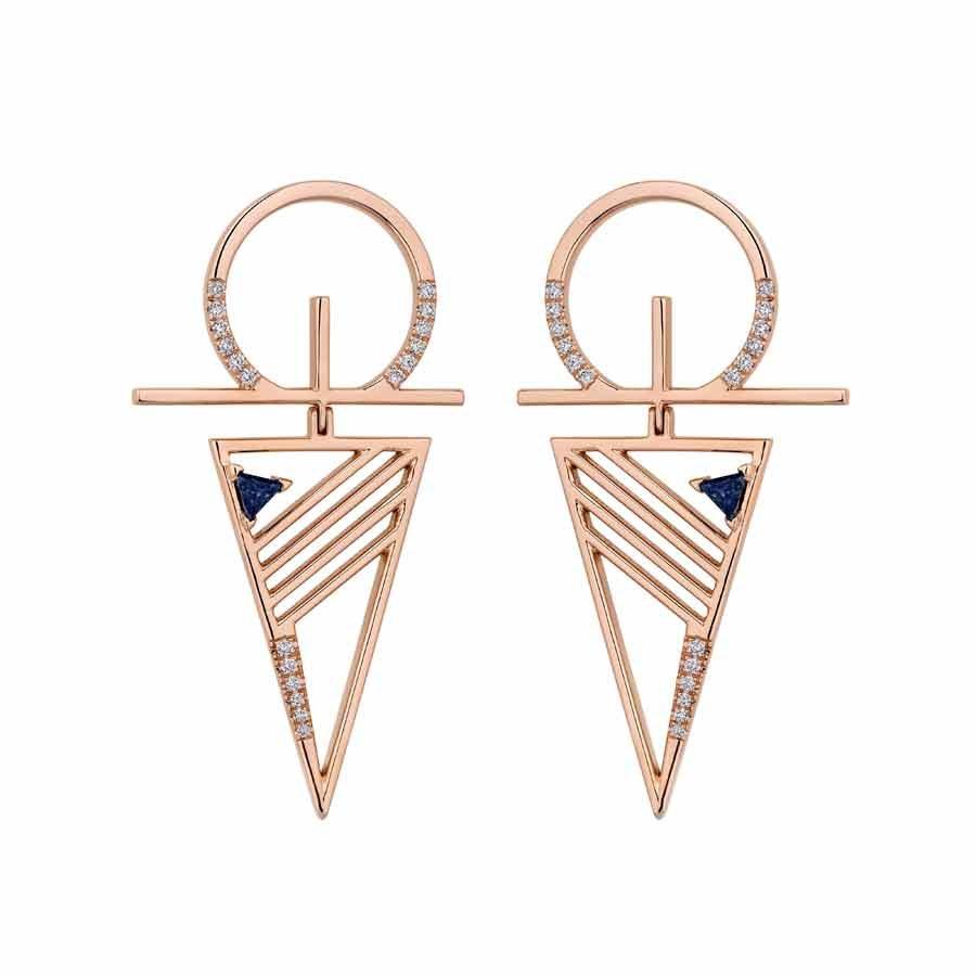 Blueprints Rose Gold Earrings