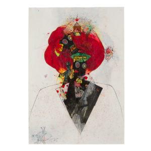 Constantinos Patsio Le Magicien 100 cm x70 cm Mixed Media on Paper 2012