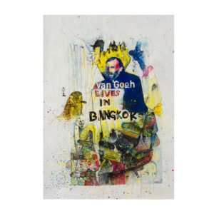 Constantinos Patsios Untitled-2012 Mixed Media on Paper 100 cm x 70 cm