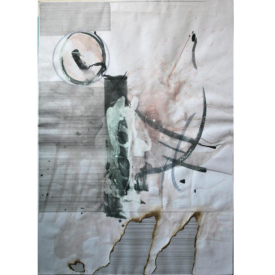 Gerasimos Avlamis Untitled Mixed Media 100 cm x 70 cm