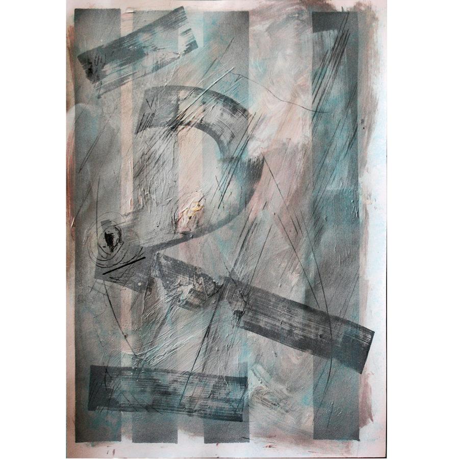 Gerasimos Avlamis Untitled Mixed Media 35 cm x 50 cm PRELUDE 4