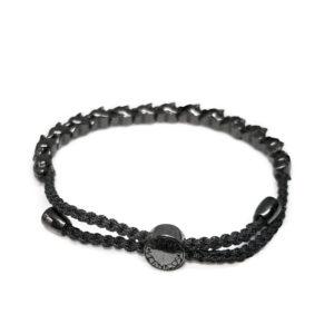Marina Vernicos Black Platinum Plated Panther Bracelet