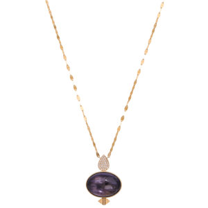 Lito Mineral stones and Diamonds Necklace