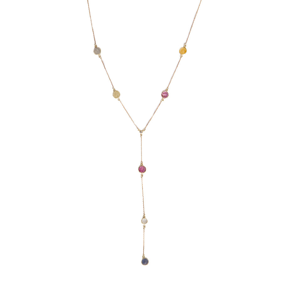 OONA Multicolour Rose Cut Sapphire Necklace