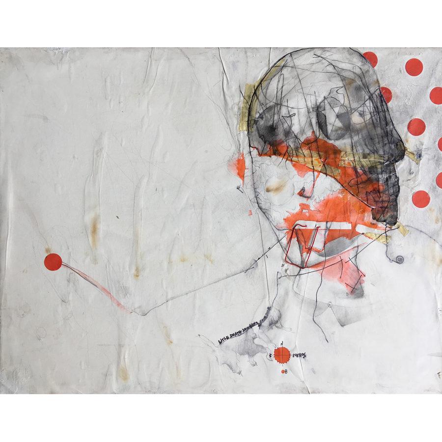 Constantinos Patsios The Loverman Mixed Media on Canvas 45 cm x 34 cm