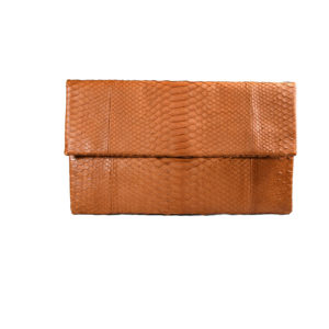Wings Envelope Medium Clutch Sienna