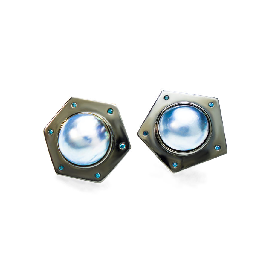 Anomy Diamonds and Pearls Cufflinks