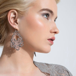 Contessina Godiva Earrings on model