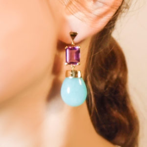 Anomy Sea and Berries Earrings on model