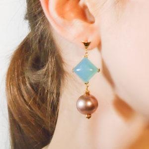 Anomy Sea and Berries Earrings on model