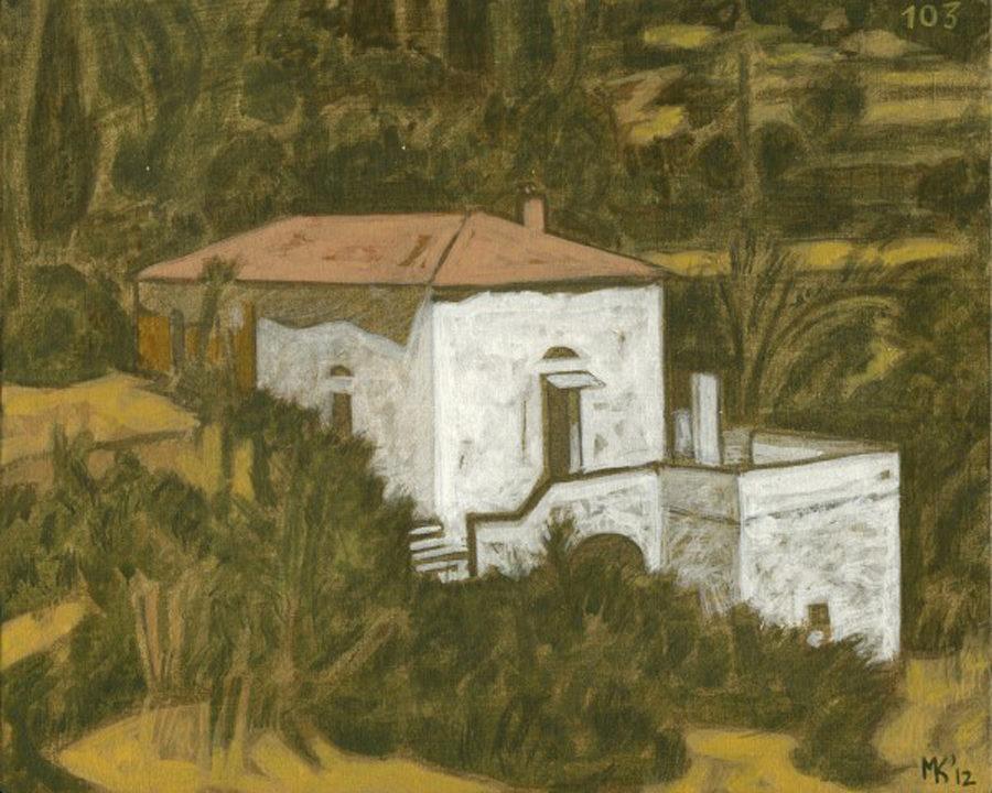 Markos Kampanis. Landscapes. 2012-13. Ακρυλικό σε ξύλο. Acrylic on wood. 103