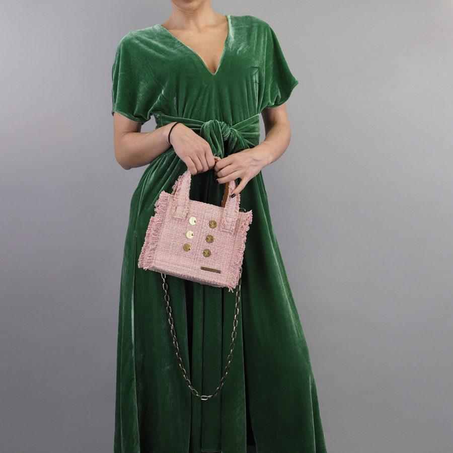 KOORELOO Epiphany Tote Baby Pink Fabric Shoulder Bag